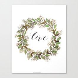 Love wreath Canvas Print