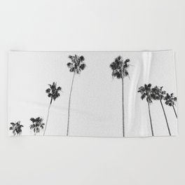 Black & White Palms Beach Towel