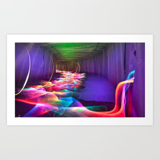 Liquid Color Flow Art Print