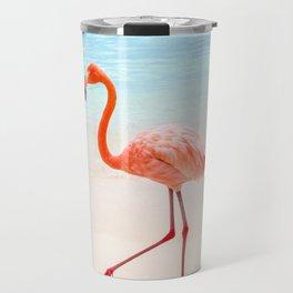 Walk On: Pink Flamingo Travel Mug