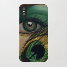 Through The Eye Of A Peacock Slim Case iPhone X