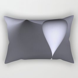 the color white Rectangular Pillow