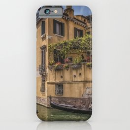 Photos Venice Italy Canal Street Boats Marinas Cities Building Pier Berth Houses iPhone Case
