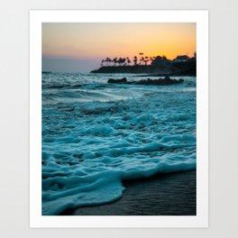 Wavy Waters In California In The Summer Art Print
