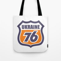 ukraine Tote Bags featuring DgM UKRAINE 76 by DgMa