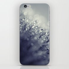 blue with drops iPhone & iPod Skin