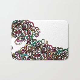 Squiggles in a Tangle Bath Mat