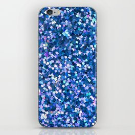 Dazzling Blue Sequences (Color) iPhone Skin