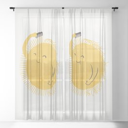 Good Morning, Sunshine Sheer Curtain