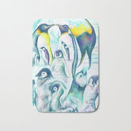 Penguin Family Bath Mat