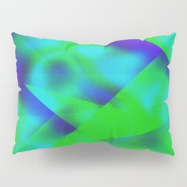 Green Color Package Pillow Sham