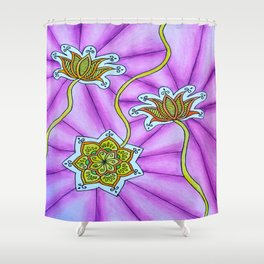 Lotus Flowers Shower Curtain