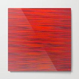 Simply Red Metal Print