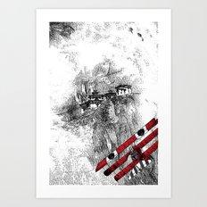 asc 164 - The Red Baron & Newton I (Le château des nuages) Art Print