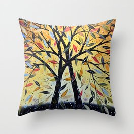 Abstract Art Landscape Original Painting ... New Day Dawning Throw Pillow