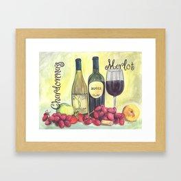 Watercolor Wine Framed Art Print