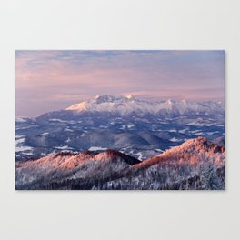 Beautiful sunrise in the Tatra mountains Canvas Print