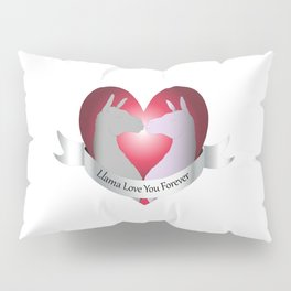 Llama Love You Forever in Color Pillow Sham