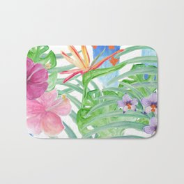 Malia's Tropical Print Bath Mat