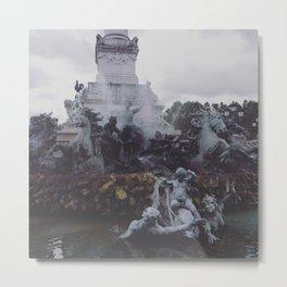 Fontaine des Girondins, Bordeaux, France Metal Print