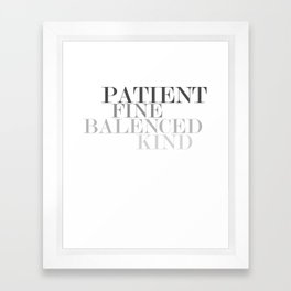 Skinny Love Typography Framed Art Print