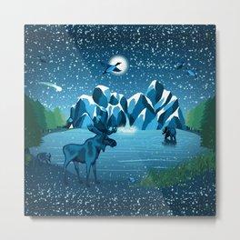 Fireflies Like Stars Metal Print