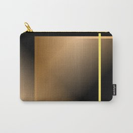 Gold geometric line on blkack background Carry-All Pouch