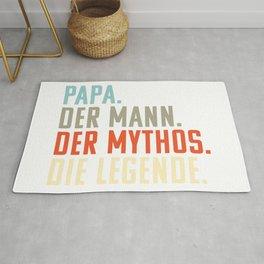 Papa. Mann. Mythos. Die Legende | Witziges Vatertgsgschenk | Geschenk Vatertag Rug