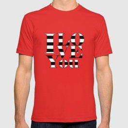 I love you - black T-shirt