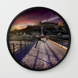 Footprints in the Snow Wall Clock