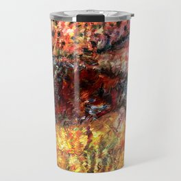 Sedimentary Rock Abstract Travel Mug
