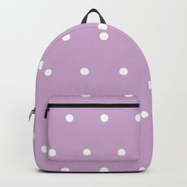 Polka Dots Lavender Lilac Purple Backpack