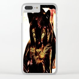 Big Cat Models: Black Panthers: Sasha 01-02 Clear iPhone Case