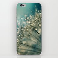 sparkles iPhone & iPod Skins featuring Indigo Sparkles by Sharon Johnstone