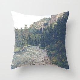 The Montana Collection - A River Runs Through It - Gallatin Canyon Throw Pillow