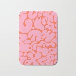 millennial pink blobs Bath Mat