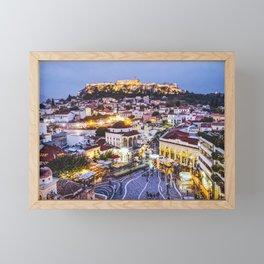 Athens Cityscape Fine Art Print Framed Mini Art Print