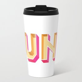 Typography design text 'Cunt' Travel Mug