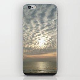 Cloudy sun iPhone Skin
