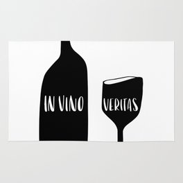 In vino veritas. Truth in Wine. Rug
