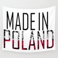 poland Wall Tapestries featuring Made In Poland by VirgoSpice