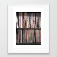 records Framed Art Prints featuring Records by Loudesthowl