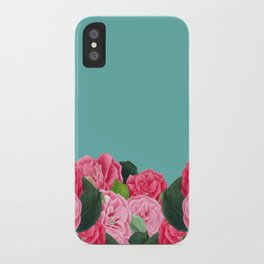 Floral & Turquoise iPhone Case