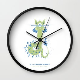 H is for Hippocampus Wall Clock