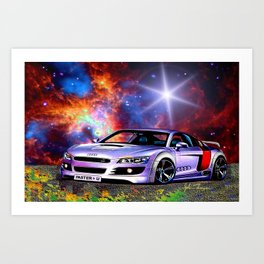 Cosmic Audie Super car Art Print