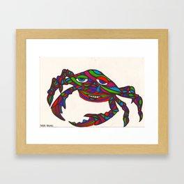 kaleido-crab Framed Art Print