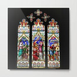 Cathedral Stained Glass 3 Metal Print