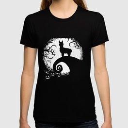 Funny Llamas And Moon Halloween Costume Gift T-shirt
