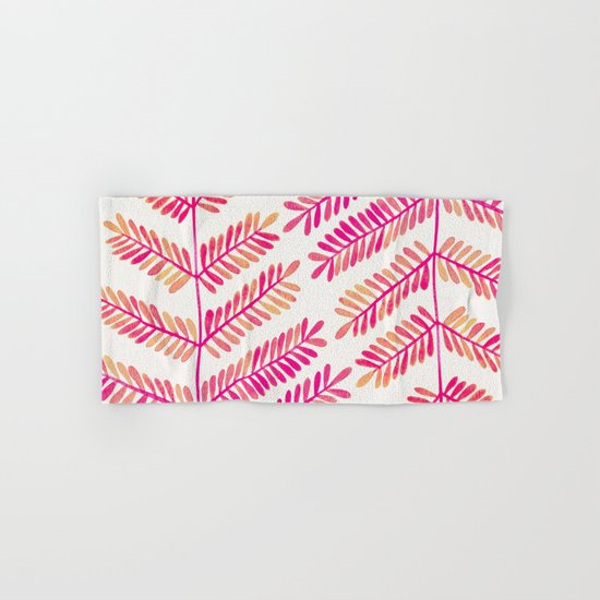 Leaflets – Pink Ombré Palette Hand & Bath Towel