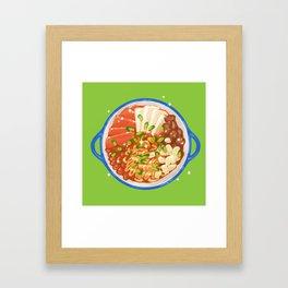 Korean Stew Budae Jjigae Framed Art Print